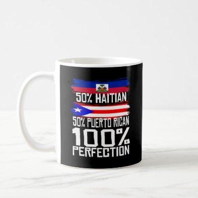 Haitian Puerto Rican Pride Heritage Funny Gift Coffee Mug