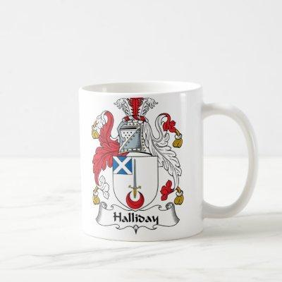 Halliday Family Crest Coffee Mug