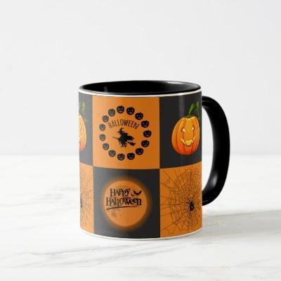 Halloween Chessboard Mug
