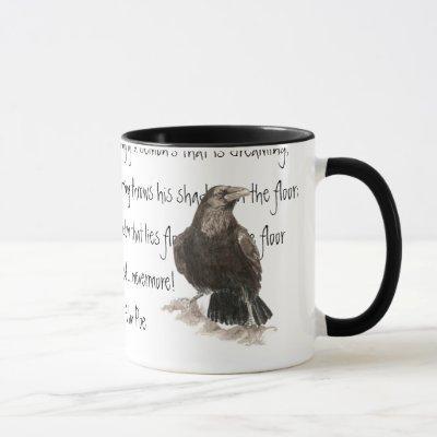 Halloween, Edgar Allen Poe, Raven, Nevermore Mug