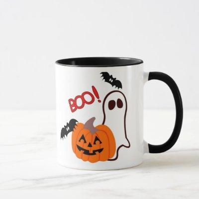 Halloween Ghost with pumpkin Mug