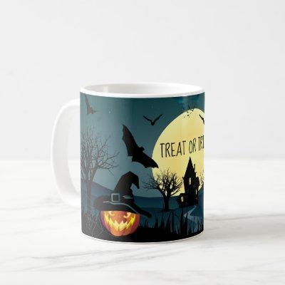 "Halloween Night Mug - ""Treat or Trick"" MAGIC"