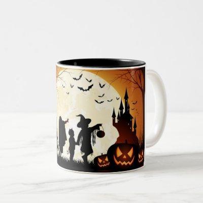 Halloween on doors MUG witch