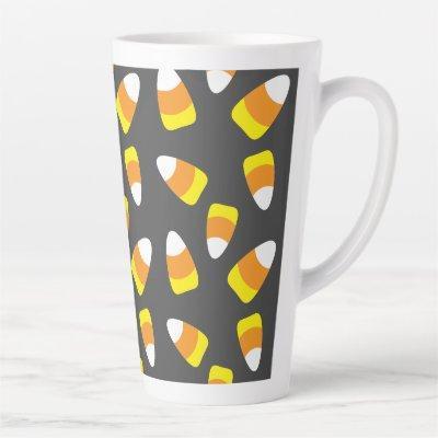 Halloween Pattern Candy Corn Latte Mug