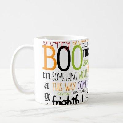 Halloween Words Typography Fun Holiday Coffee Mug