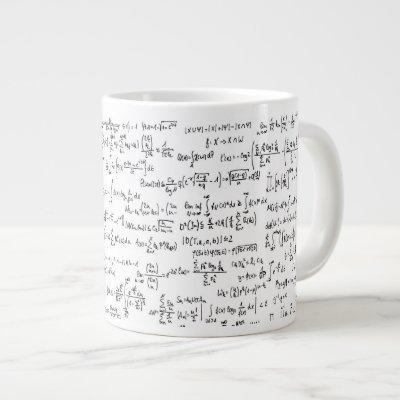 Hand Written Math Equations // Large Coffee Mug