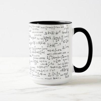 Hand Written Math Equations // Mug