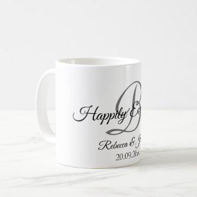 Happily Ever After Monogram Coffee Mug