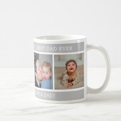 Happy 1st Father's Day Best Dad Ever 4 Photo Coffee Mug