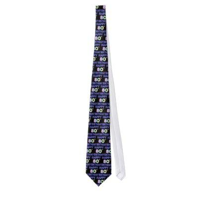 Happy 80th Birthday Gifts and Birthday Apparel Neck Tie