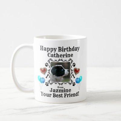 Happy Birthday Name Dog Mug