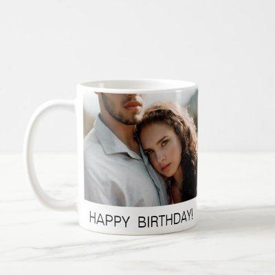 Happy Birthday Photo Personalized Couple Coffee Mug