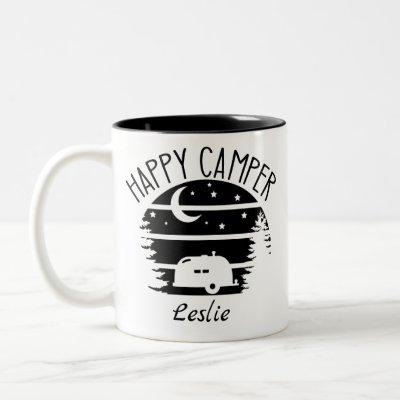 Happy Camper Coffee Mug Personalized
