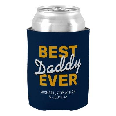 Happy Father's Day 4 Photo Can Cooler