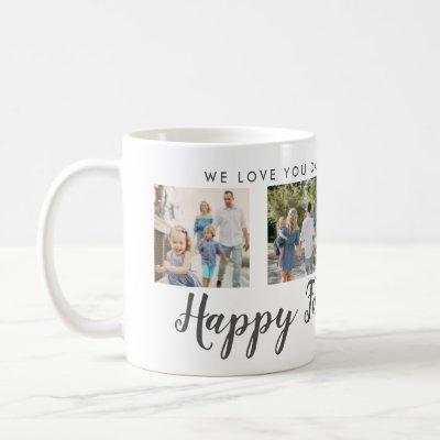 Happy Father's Day 4 Photo Custom Message | Mug