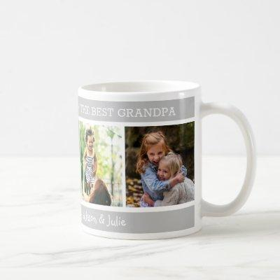 Happy Father's Day  Best Grandpa 4 Photo Collage Coffee Mug