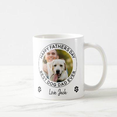 Happy Father's Day Pet Photo Best Dog Dad Ever Coffee Mug