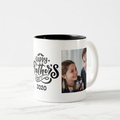 Happy Father's Day Photo Two-Tone Coffee Mug