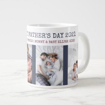 Happy First Fathers Day 4 Photo Giant Coffee Mug
