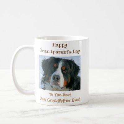 Happy Grandparent's Day Best Dog Grandfather Photo Coffee Mug