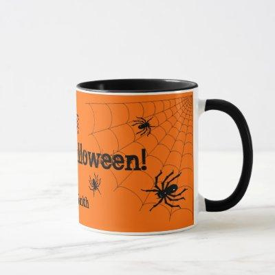 Happy Halloween Spiders Personalized Mug