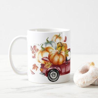 Happy Harvest Watercolor Coffee Mug