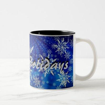 Happy Holidays Snowflake Mug