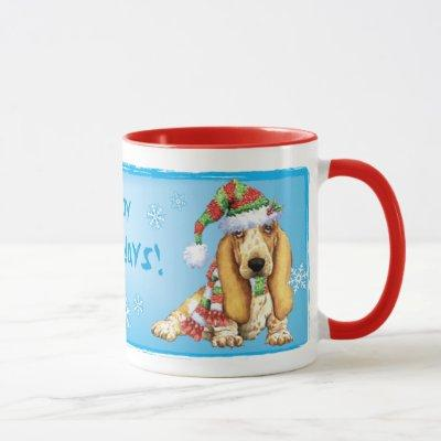 Happy Howliday Basset Mug