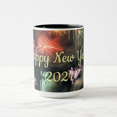 Happy New Year 2021 colorful celebration Mug