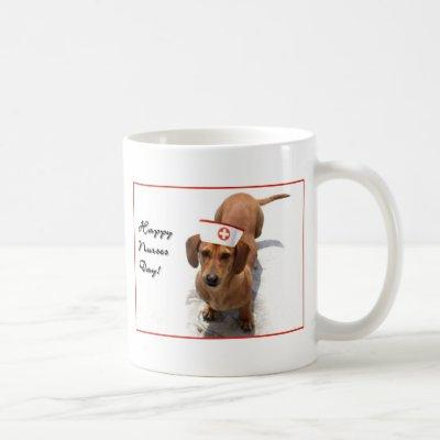 Happy Nurses Day Dachshund mug