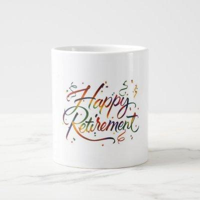 Happy Retirement Large Coffee Mug