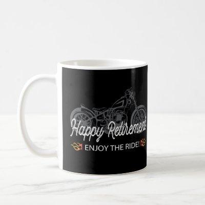 Happy Retirement with Motorcyle Coffee Mug
