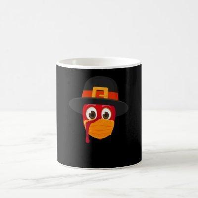 Happy Thanksgiving 2020 Turkey Face Mask Coffee Mug