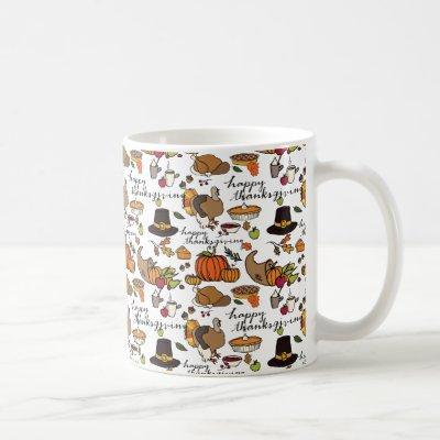 Happy Thanksgiving Themed Mug