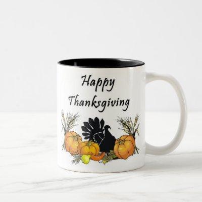 Happy Thanksgiving Two-Tone Coffee Mug