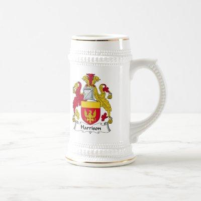 Harrison Family Crest Beer Stein
