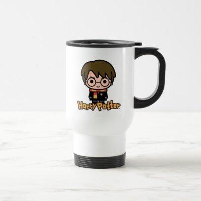 Harry Potter Cartoon Character Art Travel Mug