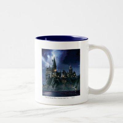 Harry Potter Castle | Moonlit Hogwarts Two-Tone Coffee Mug