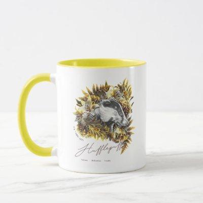 HARRY POTTER™ HUFFLEPUFF™  Floral Graphic Mug