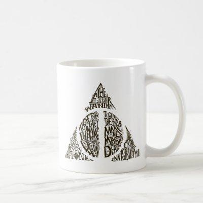 Harry Potter Spell | DEATHLY HALLOWS Typography Gr Coffee Mug