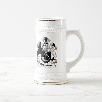 Hathaway Family Crest Beer Stein