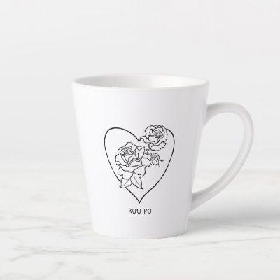 "Hawaiian Rose Love Mugs ""my beloved sweetheart"""