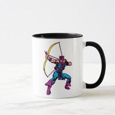 Hawkeye Retro Character Art Mug