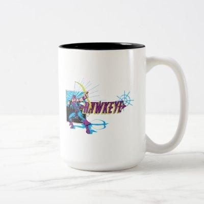 Hawkeye Retro Comic Graphic Two-Tone Coffee Mug