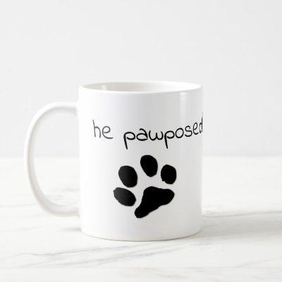 He pawposed! coffee mug