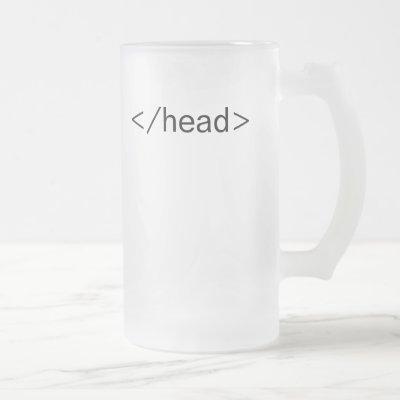head </head> html tag beer mug