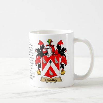 Headley, the Origin, the Meaning and the Crest Coffee Mug