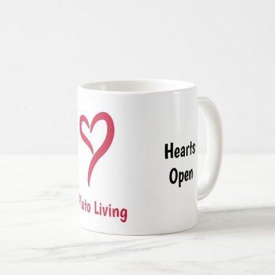 Heads High. Hearts Open Coffee Mug