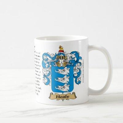 Healy, the Origin, the Meaning and the Crest Mug