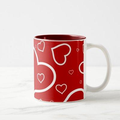 Heart Outlines - Valentine's/Love Mug